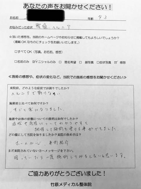 東広島市 40歳代 男性